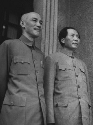 Based on clashing ideologies, KMT President Chiang Kai-shek and Communist Party leader Mao Zedong were unable to unite China following WWII, leading to a KMT retreat to Taiwan