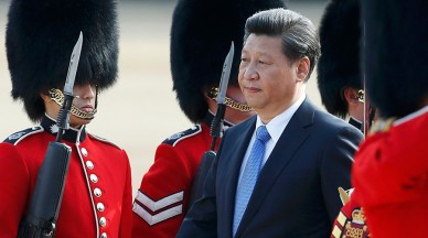 Chinese President Xi Jinping Arrives in the UK, Welcomed by an Honor Guard Red Carpet Ceremony